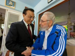 Fidel Castro recibe a Li Keqiang Primer Ministro de China