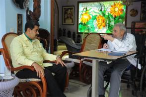 Fidel Castro y Nicolás Maduro Moros en Cuba