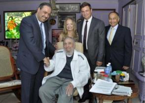 Fidel Castro y el Príncipe Ahmad Al-Fahad Al-Sabah, Presidente de la Asociación de Comités Olímpicos Nacionales (ACNO)
