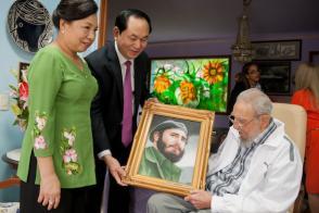 Presidente de la República Socialista de Vietnam, Tran Dai Quang y Fidel Castro Ruz