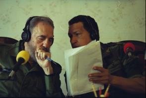 Fidel Castro y Hugo Chávez en Venezuela, 2000