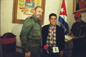 Fidel Castro y Elías Jaua en Venezuela, 2000