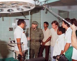 """Acto de inauguración del Hospital """"Julio Trigo"""", en Arroyo Naranjo, La Habana"""
