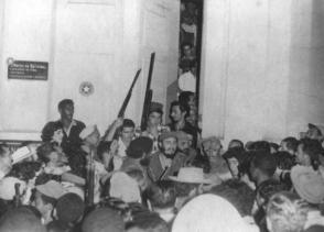 Fidel Castro en Santiago de Cuba, 1959.