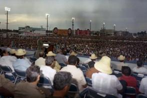 Acto central conmemorativo por el XXXIII Aniversario del Asalto al Cuartel Moncada celebrado en Sancti Spíritus