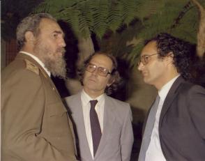 Junto a Adolfo Pérez Esquivel, Premio Nobel de la Paz