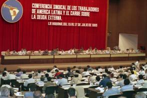 Sesión de Clausura de la Conferencia Sindical de Los Trabajadores de América Latina y el Caribe sobre la Deuda Externa