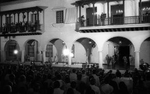 Acto por el XXV aniversario del Triunfo de la Revolución en Santiago de Cuba