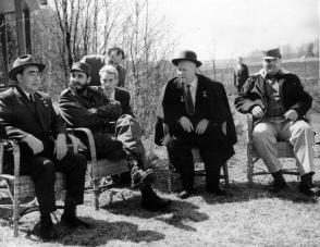 Fidel Castro, Nikita Jrushchov, Leonid Brézhnev y Emilio Aragonés