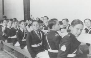 Fidel Castro Ruz en el Colegio de Dolores en 1941