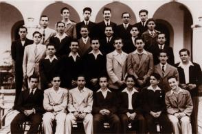Fidel Castro Ruz en le Colegio de Belén,1943