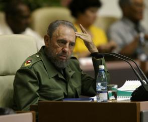 Fidel Castro Ruz en el Palacio de Convenciones, 4 de mayo de 2005