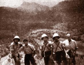 Fidel Castro Ruz visita Soroa, 1943