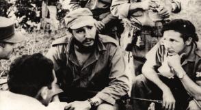 Fidel Castro junto a un grupo de Oficiales en El Escandel, 1959.