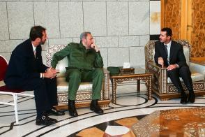 Fidel Castro con Bachar Al-Ásad, 15 de mayo de 2001