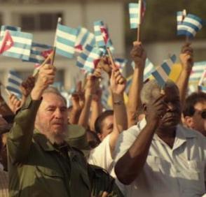 Fidel Castro en la Tribuna Abierta de la Revolución en el Municipio Playa