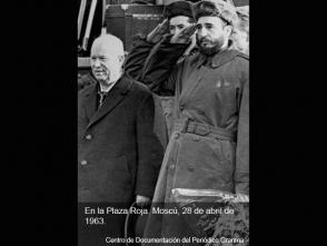 Fidel Castro y Nikita Jrushchov