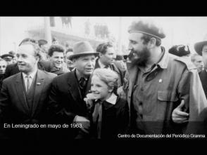 Fidel en la ciudad de Leningrado