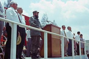 Fidel Castro Ruz y Gustav Husak