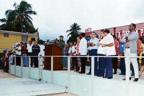 Fidel Castro  acto por el día del constructor