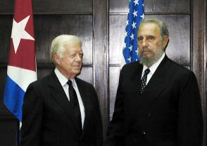 Fidel Castro y James Carter, 12 de mayo de 2002