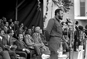 Fidel Castro en Argelia, 9 de mayo de 1972