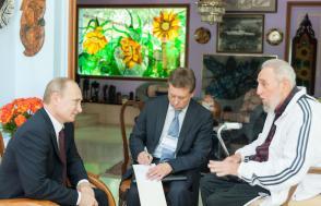Fidel Castro y Valdimir Putin, 2014