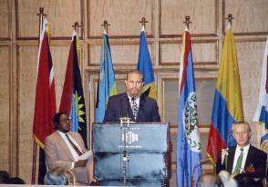 Fidel Castro Ruz en Trinidad y Tobago, 17 de agosto de 1995
