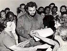 Fidel Castro junto a Pastorita Nuñez