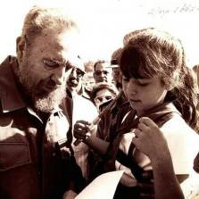 Primer encuentro de Kenia y Fidel, el 19 de abril de 2001. Foto: cortesía de la entrevistada.
