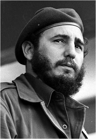 Fidel at a ceremony in El Cacahual on December 7, 1961.  The photo was taken by Liborio Noval.
