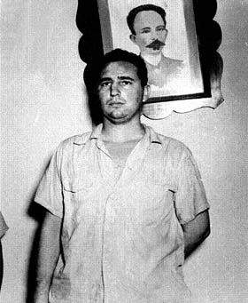 This is one of the first photos of Fidel after the attack on the Moncada Barracks, taken at the Vivac in Santiago de Cuba.  The picture is the property of Ernesto Ocaña, photographer for the Diario de Cuba.
